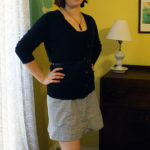 Sewing: Striped A-Line Skirt