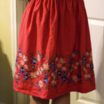 Craft: Super simple elastic waist skirt