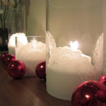 Dixie DIY Christmas: Doily candle holders