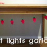 Felt Lights Garland