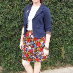 Using Scraps: Elastic Waist Knit Skirt