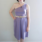 One Shoulder Knit Dress with Downloadable Pattern!