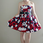 Strapless floral dress – McCall's M5849 (out of print)