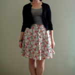 Sewing Do-Over: Wrap Skirt to Button Front Skirt