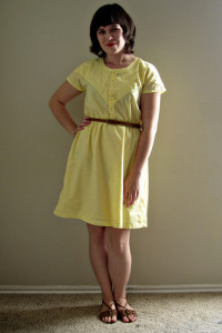 Yellow Chevron Dress