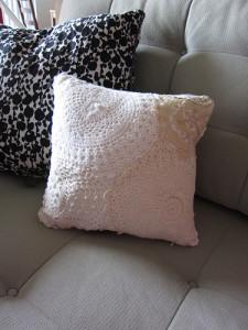 Hanky/Doily Pillow