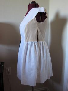 Asymmetrical Neckline Dress Muslin