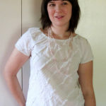 White raglan sleeve top – Simplicity 3835