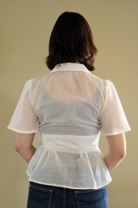 Swiss Dot Sheer Blouse