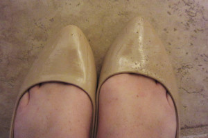Sad burned shoes!