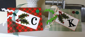 Christmas Cards using Gift Wrap