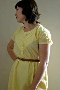 Yellow Chevron Dress