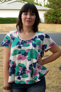 Flow-y Floral Summer T-shirt