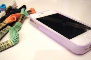 Cross Stitch iPhone Case Side