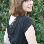 Little Black Dress and a Crochet Applique Tutorial