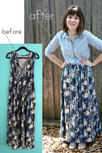 Maxi Dress to Skirt