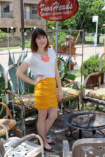 Mustard Folded Mini Skirt
