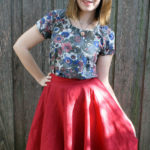 The Little Red Circle Skirt