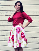 Circle Skirt and Cropped Sweatshirt