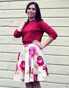Circle Skirt and Cropped Sweatshirt