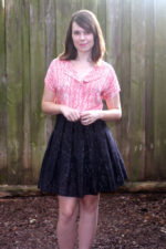 Sparkly Box Pleated Skirt