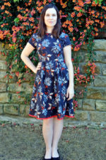 Navy Floral Dress and Thoughts on the Fit and Flare