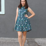 Cat Print Grainline Alder Dress