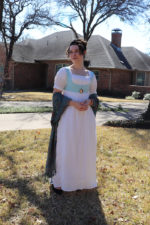 Black Snail Regency Era Dress and Spencer