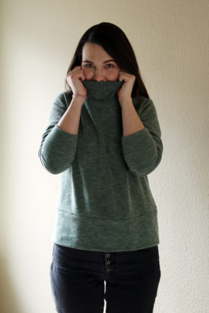 Green Rib Knit Sew House Seven Toaster Sweater