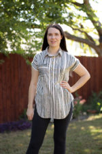 Closet Core Kalle Shirt in Striped Cotton