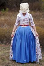 1780s Cotton Print Italian Gown