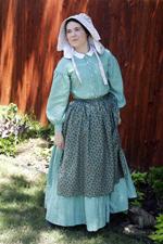 1860s Work Dress & Accessories
